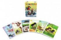 Kvarteto Krtek 1 společenská hra - karty v papírové krabičce 6x9cm - VÝPRODEJ