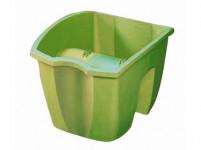 Truhlík CROWN na zábradlí plastový světle zelený 24x28cm