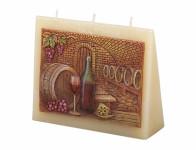 Svíčka SKLÍPEK OBÁLKA zdobená vyřezávaná vonná 13x11x4cm