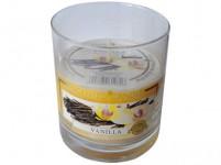 svíčka vonná sklo VANILKA 135g (hoří 30hod)
