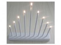 svícen vánoční el. 9 svíček LED, kov., 26x31x5,5cm, na baterie