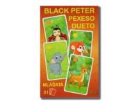 Černý Petr/Pexeso/Dueto mláďata 3 v1 7x10,5x1,5 cm 31 ks