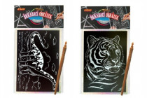 Škrabací obrázek hologram 14x25cm - mix variant či barev