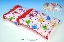 Peřinka 35cm polštář 23cm podložka pro panenky do postýlky/kočárku 50cm - mix variant či barev