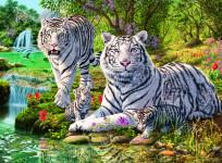 Bílé kočky loupežnice; 500 dílků