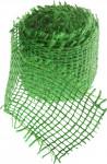 Jutová stuha 4 cm x 3 m - světle zelená