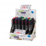 Easy Flow 4colours 24 ks Přepisovatelné pero gumovací, 4 barvy - VÝPRODEJ