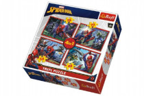 Puzzle 4v1 Spiderman/Disney Marvel Spiderman