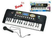 Pianko 37 kláves 43x16 cm s mikrofonem na baterie s funkcí nahrávání