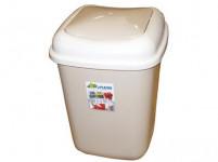 koš odpadkový výklopný QUATRO 12l čtvercový plastový - mix barev