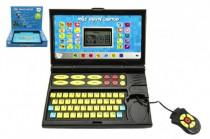 Můj první laptop/notebook černomodrý 50 programů na baterie se zvukem