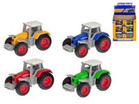 Traktor 7 cm kov 1:64 volný chod - mix barev