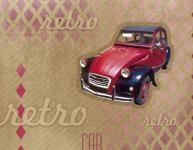 Balicí papír 100 x 70 cm 2 ks, RETRO-auto, DITIPO