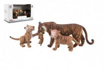 Zvířátka safari ZOO 13cm sada plast 3ks tygr 2 druhy
