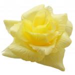 Růže látková - světle žlutá - 24 ks