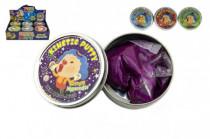 Hmota/modelína 50g inteligentní třpytivá glitter 8cm mix barev v plechové krabičce - mix variant či barev