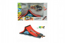 Skateboard prstový šroubovací s rampou plast