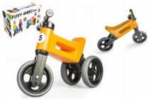 Odrážedlo oranžové FUNNY WHEELS 2v1 výška sedadla nastavitelná 28/31cm nosnost 50kg 18m+