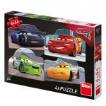 Puzzle 4x54 dílků: Cars 3: Rivalové