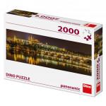 Puzzle 2000 dílků: Karlův most v noci panoramic