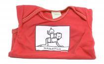 Dětské body Mayaka s krátkým rukávem Horseriding - červené Vhodné pro věk 3-6 měsíců - VÝPRODEJ