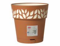 Obal na květník CLOE samozavlažovací plast terakota d20x19cm