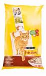 Friskies cat dry - maso, kuře a přidaná zelenina 10 kg