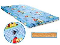 Dětská matrace 140x70 cm, kokos - molitan, modrá, Cuculo