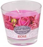 Svíčka sklo - aroma růže 160 g - 4 ks