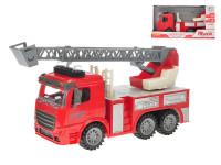Auto hasiči 28 cm na setrvačník na baterie se světlem a zvukem