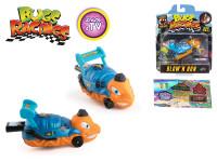 Bugs Racings 9 cm foukni a jeď se samolepkou a terčem - mix variant či barev