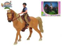 Koník s jezdcem - mix barev