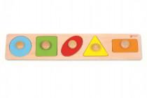 Vkládačka 5ks dřevo geometrické tvary pro nejmenší