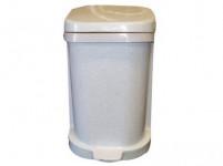 koš odpadkový nášlapný 25l čtvercový s vložkou, plastový, BÍ