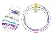 Hula Hop obruč plast průměr 65 - 85cm na baterie se světlem a velikosti - mix barev
