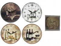 hodiny nástěnné pr.28cm dřev. - mix variant či barev