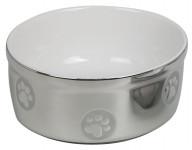 Miska keramická stříbrná Nobby 15,5 x 6,5 cm