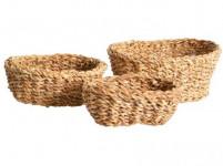 košík oválný střední 24x18x8cm mořská tráva