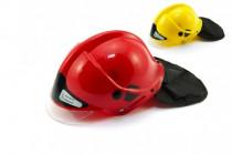 Helma přilba hasiči plast 27x16cm - mix barev