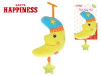 Měsíček plyšový 20 cm s hracím strojkem na natažení Baby´s Happiness na kartě