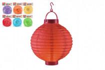 Lampion průměr 20cm LED na baterie v sáčku (bez hůlky) karneval - mix variant či barev