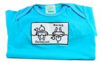 Dětské body Mayaka s krátkým rukávem Swimming/Diving - tyrkysové Vhodné pro věk 3-6 měsíců - VÝPRODEJ