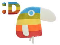 Papoušek Duháček plyšový 20x25 cm menší