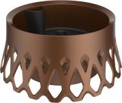 Plastia žardina samozavlažovací Roseta - bronz 30 cm