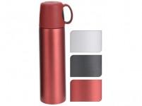 termoska 0,5l nerez, plastové víčko s uchem - mix barev
