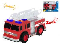 Auto hasiči 18 cm na setrvačník na baterie se světlem a zvukem