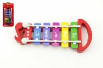 Xylofon plast/kov 25cm