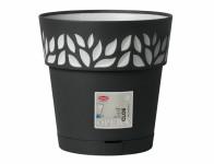 Obal na květník samozavlažovací CLOE antracitový d15x15h