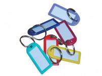 visačka na klíče 6,0cm plastová, velká s krouž. (50ks) - mix barev