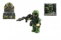 """Figurka """"voják v džungli"""" s doplňky plast 9cm mix druhů - mix variant či barev"""